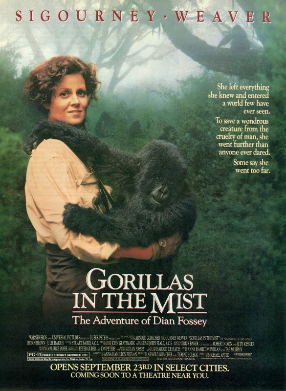 Gorillas in the Mist: The Story of Dian Fossey / გორილები ნისლში (1988/ქართულად)